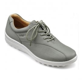 Womens Tone Extra Wide Duck Egg Leather Lace Up Shoes