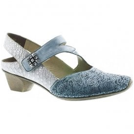Womens Prestonbuk Blue Strap Over Shoes 49770-14