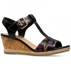 Womens Jordan Paradise Print/Black Sling Back Wedge Sandals 2853120