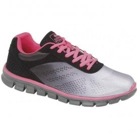 Womens Firelight Grey/Black/Pink Trainers T858FA