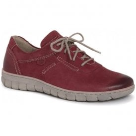 Womens Steffi 07 Red Lace Up Trainers 93107 869 400