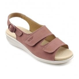 Womens Easy Salmon Nubuck Leather Slingback Sandals