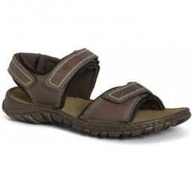 Mens Canim Brandy Nubuck Velcro Sandals 36452