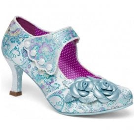 Womens Charlotte Blue Mary Jane Court Shoes