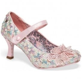 Womens Katherina Pink Mary Jane Court Shoes