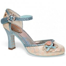 Womens Orphelia Peach/Baby Blue Court Shoes