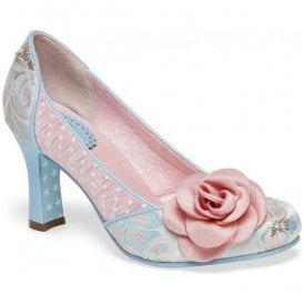 Womens Isabella Natural (Pink/Blue) Court Shoes