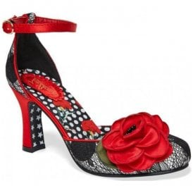 Womens Cordelia Black/Red Court Shoes