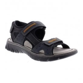 Mens Bastia Blue Strap Over Sandals 26757-14