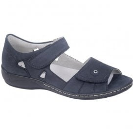 Womens Hilena Denver Marine Velcro Sandals 582028 191 217