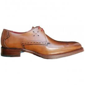 Mens Dexter Barb Mahogany Burnished Calf Gibson Shoes