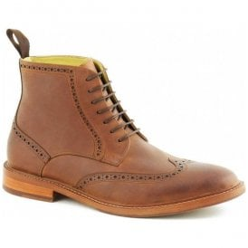 Mens Bicester Cognac Lace Up Brogue Boots