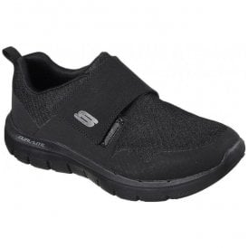 Mens Flex Avantage 2.0 - Gurn Black Velcro Trainer 52183