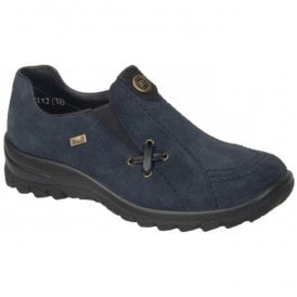 Womens Blue Slip-On Waterproof Shoes L7171-14