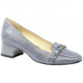 Womens Elodie Grey Leather Slip On Court Shoes 9-9-24301-28 209