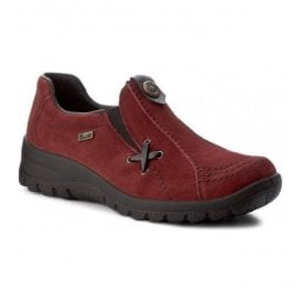 Womens Red Slip-On Waterproof Shoes L7171-35
