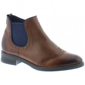 Womens Cristallin Brown Leather Ankle Boots D8581-25