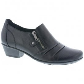 Womens Cristallin Black Leather Shoes D7310-01