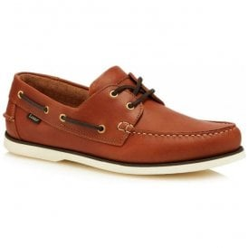 Mens 528 Brown Waxy Leather Boat Shoes