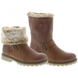 Womens Pure Two-Way Brown Combi Waterproof Boots D7481-25