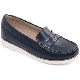 Womens Nola Navy Slip-On Moccasin Shoes