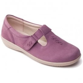Womens Solo Pink Velcro T-Bar Shoes