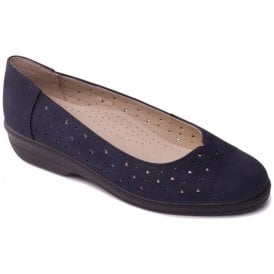 Womens Faye Navy Slip-On Shoes
