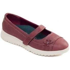 Womens Request Burgundy Combi Strap Over Pump Shoes