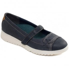 Womens Request Navy Strap Over Pump Shoes