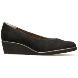 Womens Ariah Black Suede/Black Slip-On Shoes 2662150