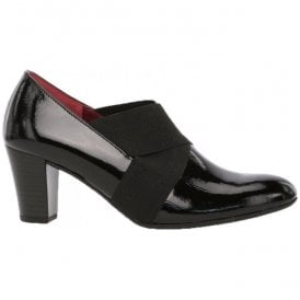 Womens Function Black Patent Heeled Court Shoes 92.165.87