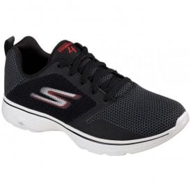 Mens Go Walk 4 - Solar Black/Red Trainers 54680