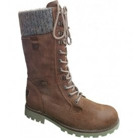 Womens Pure Brown Combi High Leg Waterproof Boots D7477-22