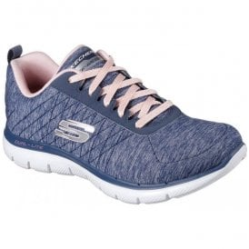 Womens Navy Flex Appeal 2.0 Lace-Up Shoes SK12753