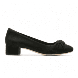 Womens Orabella Lily Black Nubuck Court Shoes 26137930