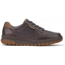 Mens Paco Dark Brown Leather Lace-Up Shoes
