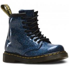 1460 Glitter Blue Leather Infant Ankle Boots 24290400