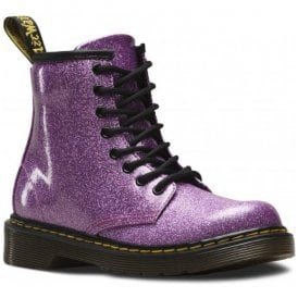 1460 Glitter Pink Leather Junior Ankle Boots 24088960