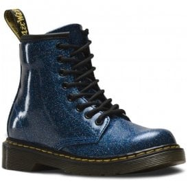 1460 Glitter Blue Leather Junior Ankle Boots 24088400