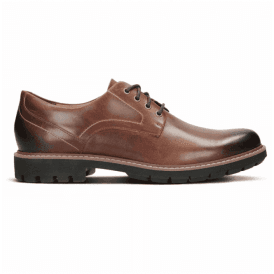 Mens Batcombe Hall Dark Tan Leather Lace-Up Shoes 26127551