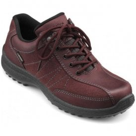 Womens Mist Extra Wide GTX Maroon Nubuck/Suede Waterproof Lace Up Shoes