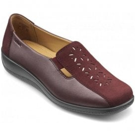 Womens Calypso Maroon Multi Leather Slip On Shoes