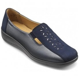 Womens Calypso Navy Multi Leather Slip On Shoes