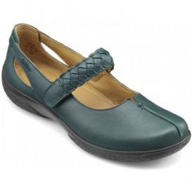 Womens Shake Deep Teal Leather Strap Over Shoes
