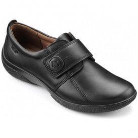 Womens Sugar 2 Extra Wide Black Leather Velcro Shoes