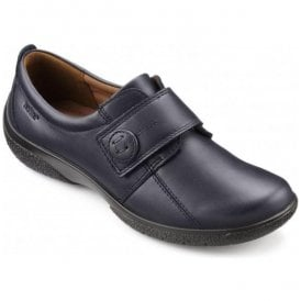 Womens Sugar 2 Extra Wide Navy Leather Velcro Shoes