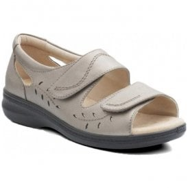 Womens Wave Pewter Grey Back In Velcro Sandals