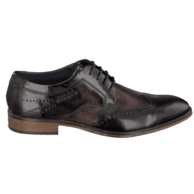 Mens Meno Dark Blue/Dark Brown Lace Up Derby Shoes 311-52901-1111-4161