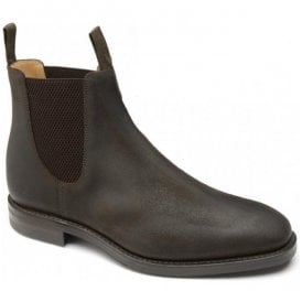 Mens Chatsworth Rust Brown Waxed Suede Dainite Chelsea Boots