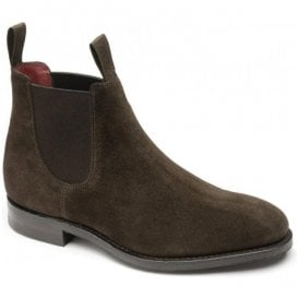 Womens Chatterley Dark Brown Suede Chelsea Boots